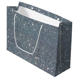 Silver background large gift bag