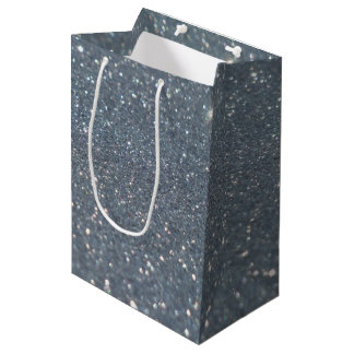 Silver background medium gift bag