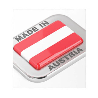 Silver badge Made in Austria Notepad