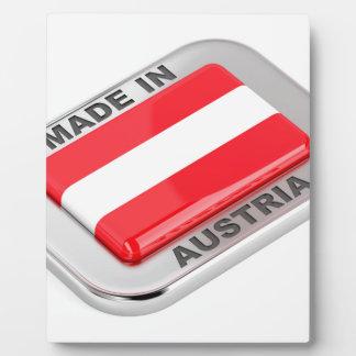 Silver badge Made in Austria Plaque