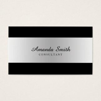 Silver Badge Simple Elegant Professional Business Card