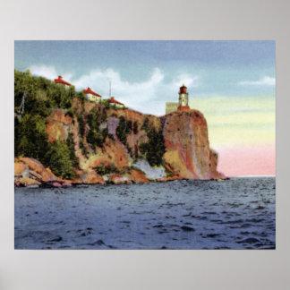 Silver Bay Minnesota Split Rock Lighthouse Poster