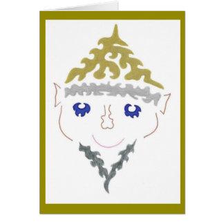 Silver Beard Christmas Elf Card