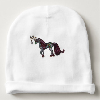 Silver Bell Reindeer Horse Pony Holiday Baby Beanie