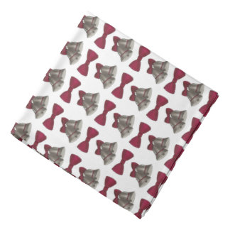 Silver Bell Wedding Bells Bandana Pocket Square