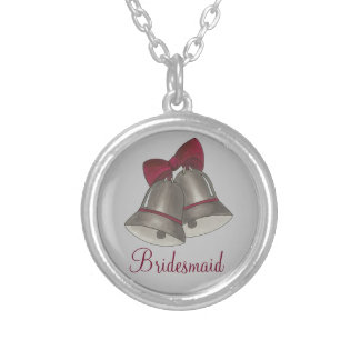 Silver Bell Wedding Party Gift Bridesmaid Necklace
