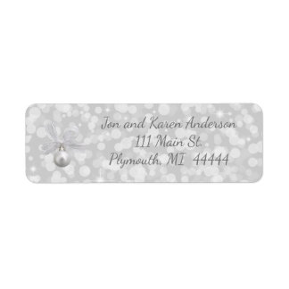 Silver Bells Christmas Address Label