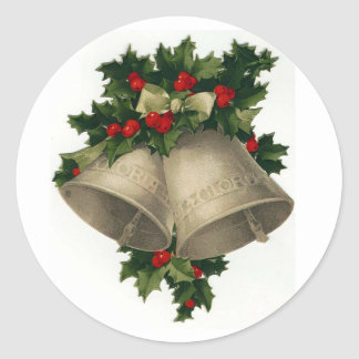 Silver Bells Christmas Holiday Sticker