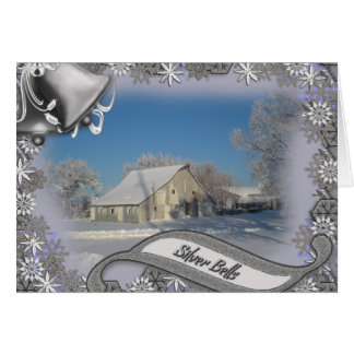 Silver Bells Christmas Snow Scene Snowflakes Cards