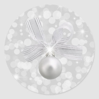 Silver Bells Christmas Sticker
