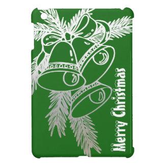 Silver Bells Classic Merry Christmas Green iPad Mini Covers