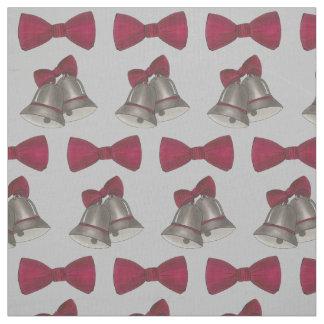 Silver Bells Gray Wedding Anniversary Engagement Fabric