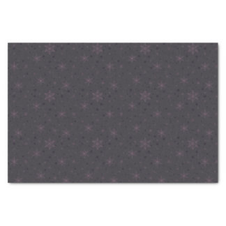 Silver Bells & Purple Bow Snowflakes Tissue Paper