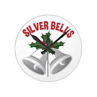 Silver Bells Wallclock