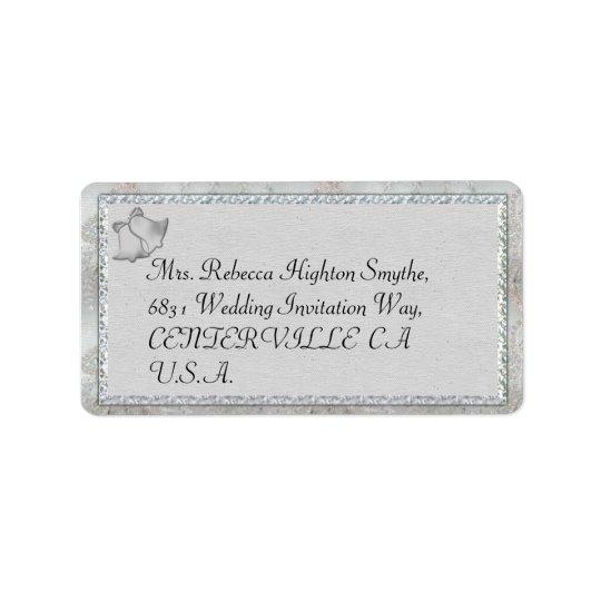 Silver Bells Wedding Address Labels