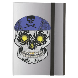 Silver Biker Candy Skull Ipad Air Case
