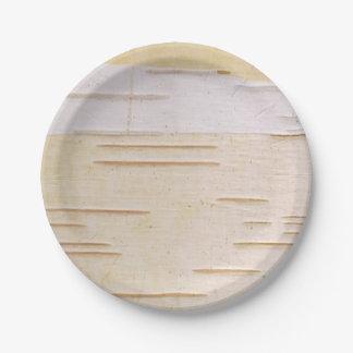Silver Birch Bark Paper Plate