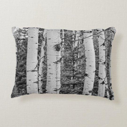 Silver Birch Tree Bark Accent Pillow