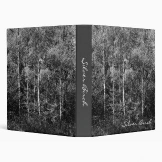 Silver Birch Trees 3 Ring Binder