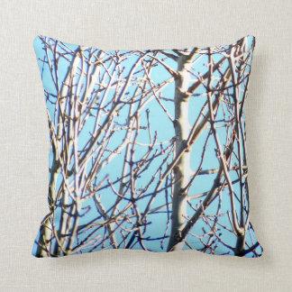 Silver Birch Trees Throw Pillow