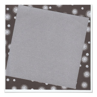 silver, black and white with stars card