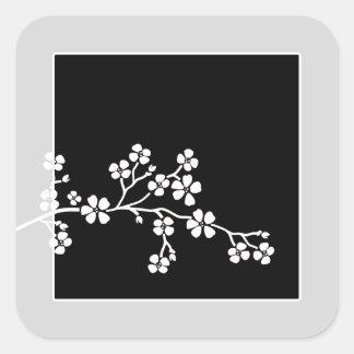 Silver/Black Cherry Blossoms Wedding (20) Sticker