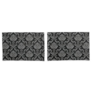 Silver & Black Damask Pattern{pick your color} Pillowcase
