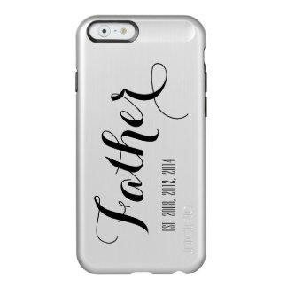 Silver Black Script Father's Day Keepsake Incipio Feather® Shine iPhone 6 Case