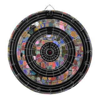 Silver Black Wheels - Marble Chips Dart Boards