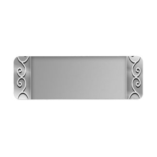 Silver Blank Return Address Labels