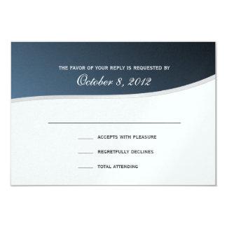 Silver Blue 3.5 x 5 Response Card