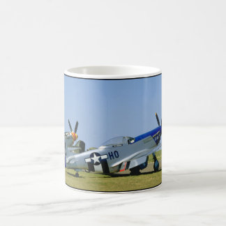 Silver & Blue, P51 Mustang, Side_WWII Planes Coffee Mug