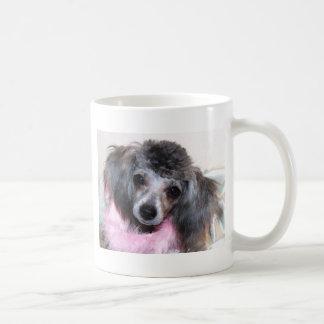 Silver Blue Poodle Puppy Face Portrait Coffee Mug