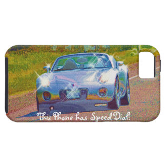 Silver-Blue Superfast Sports Car iPhone 5 Case