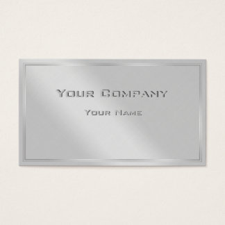 Silver Border Minimal Corporate  Business Card
