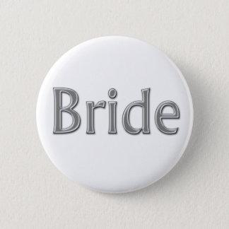 Silver Bride Button