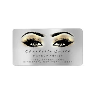 Silver Brown Gold Makeup Lashes Stylst Beauty RSVP Label