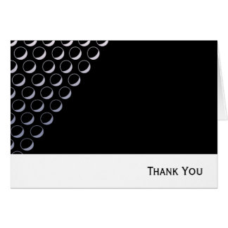 Silver Bubbles Business Note Card