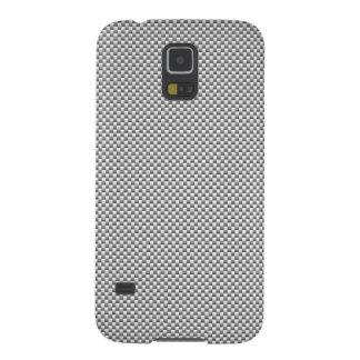 Silver Carbon Fiber Print Galaxy S5 Cover