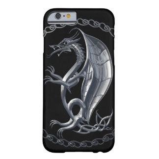Silver Celtic Dragon iPhone 6 Case