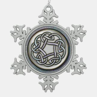 Silver Celtic Knot Snowflake Christmas Ornament