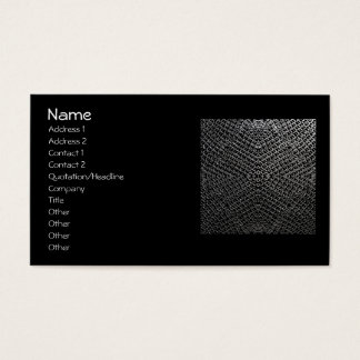 Silver Chainmail tile 196 Business Card
