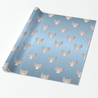 Silver Christmas Angels Wrapping Paper