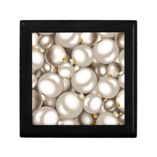 silver christmas ornaments gift box