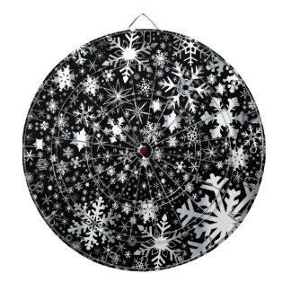Silver Christmas Snowflakes Dartboard