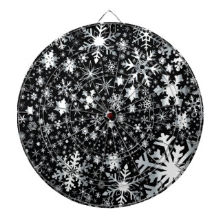 Silver Christmas Snowflakes Dartboard With Darts