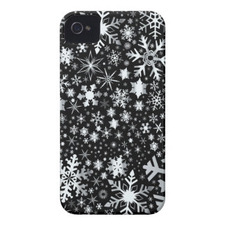 Silver Christmas Snowflakes iPhone 4 Case