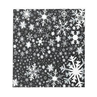 Silver Christmas Snowflakes Notepad