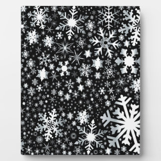 Silver Christmas Snowflakes Plaque