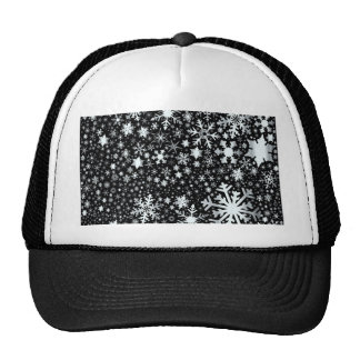 Silver Christmas Snowflakes Trucker Hat